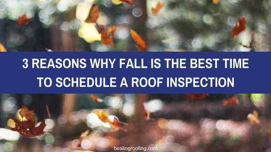 3 Reasons Why Fall is the Best Time to Schedule a Roof Inspection