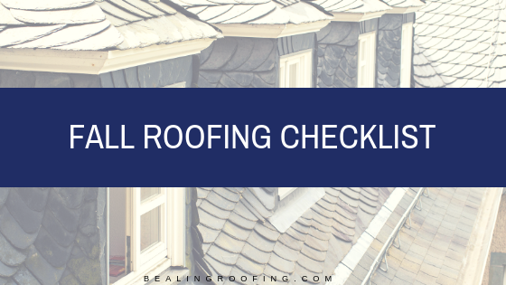 Fall Roofing Checklist