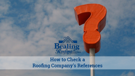 How to Check a Roofing Company's References