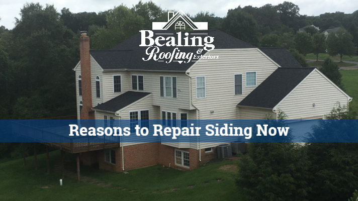 Six reasons to not put off repairing or replacing siding