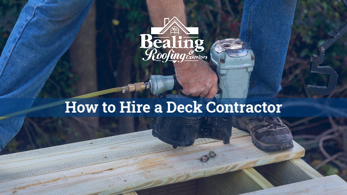 How to Hire a Deck Contractor