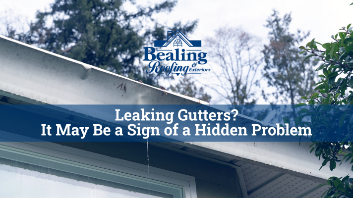 Leaking Gutters It May Be a Sign of a Hidden Problem