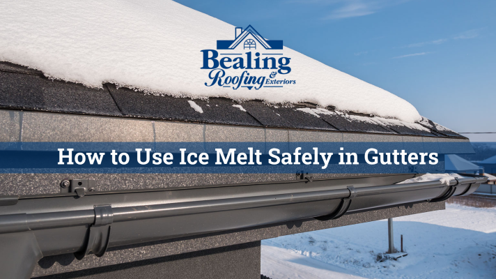 How to Use Ice Melt Safely in Gutters