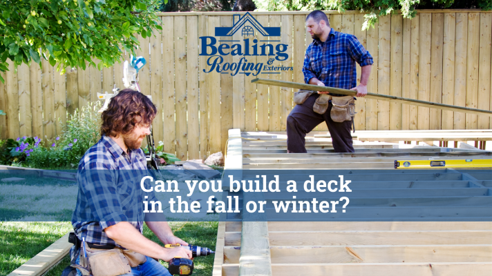 Can you build a deck in the fall or winter?